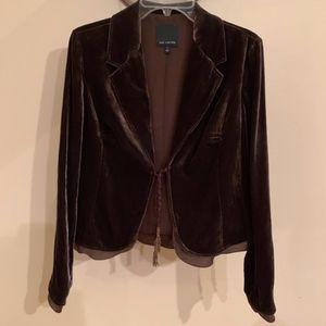 Velvet Blazer - Choc. Brown - Size M